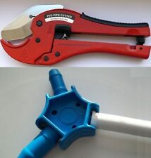 ensemble: Calibreur ébavureur + Coupe-tube automatique pour tube multicouche