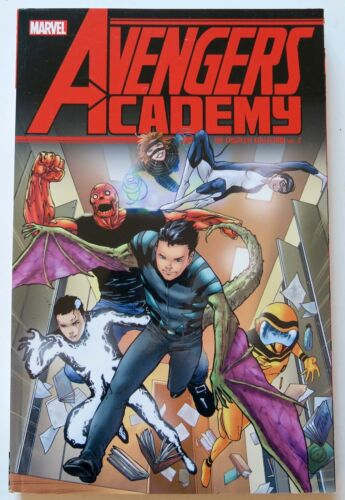 2 Marvel Graphic Novel Comic Book Avengers Academy The Complete Collection Vol