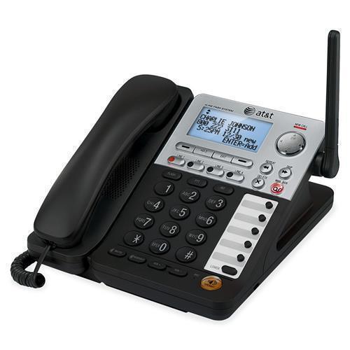 Silver Cordless Black AT/&T SB67148 SynJ SB67148 DECT 6.0 Cordless Phone 4