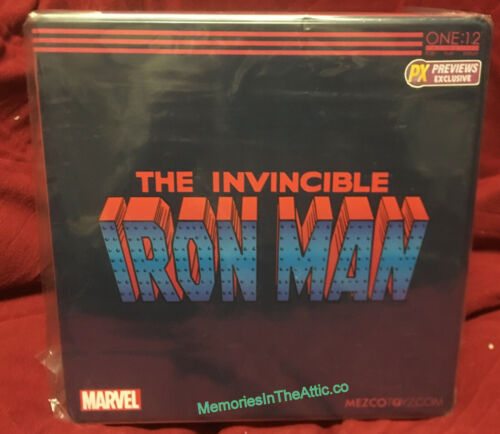 Mezco One:12 Collective PX Exclusive InvinciIble Iron Man Stealth Armor Suit USA