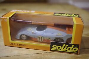 Solido-Racing-Car-Gulf-LeMans-No-38-Vintage-Die-Cast-Boxed