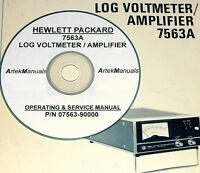 Hewlett Packard Hp 7563a Log Voltmeter / Amplifier, Manual, Operating & Service