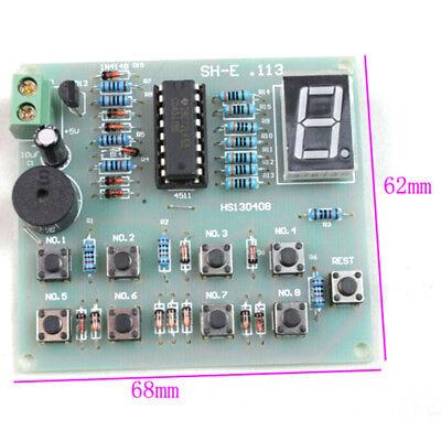 8Ways Digital Responder DIY Kit Electronic Component CD4511 Soldering Practiceed