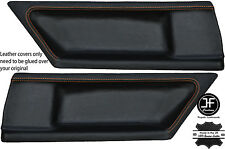 ORANGE STITCH 2X REAR DOOR CARD LEATHER COVERS FITS BMW E36 COUPE 91-98 STYLE 2