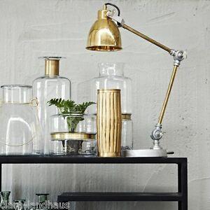 schreibtischlampe lene bjerre metall gold brass tischlampe b rolampe leselampe. Black Bedroom Furniture Sets. Home Design Ideas