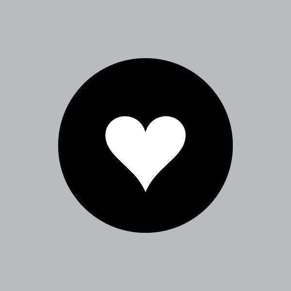Heart - Mac Apple Logo Cover Laptop Vinyl Decal Sticker Macbook Card Suit Love