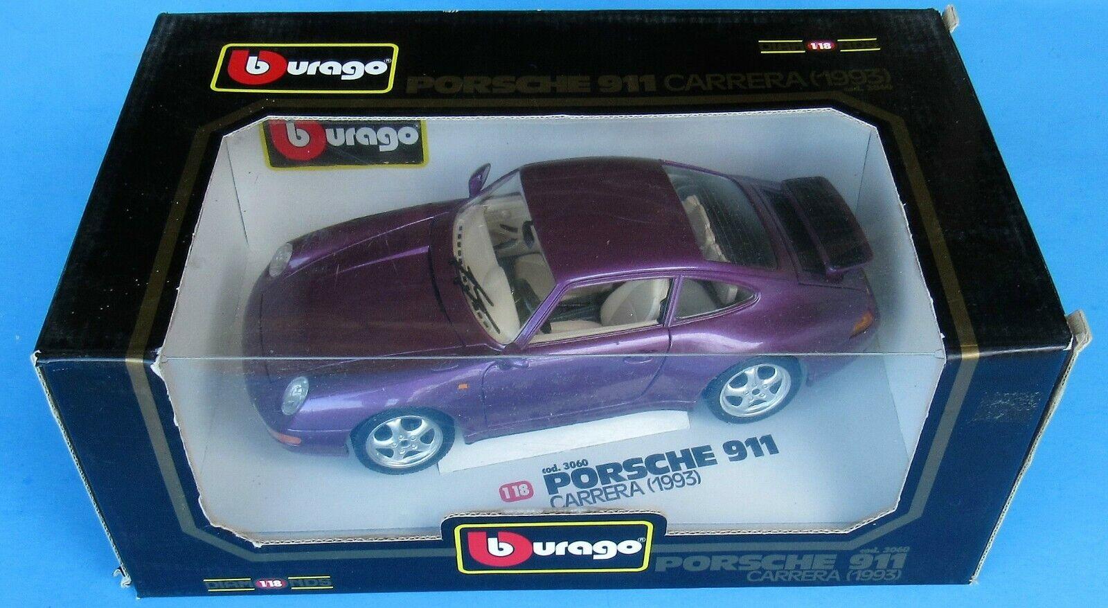 Bburago,3060 Porsche 911 bilrera 1993 Die -Cast modellllerler bil