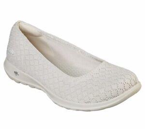 Dettagli su Skechers Women's Go Walk Lite Loveable Goga Mat Walking Slip On Shoe 15386