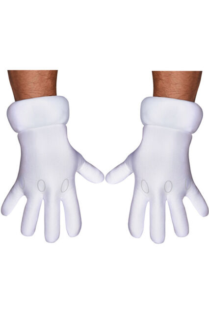 Brand New Super Mario Brothers Adult Gloves Accessory