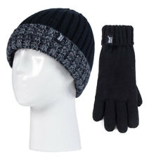 a5960d4d16acaa Heat Holders - Childrens Boys Fleece Lined Thermal Winter Hat and Gloves Set