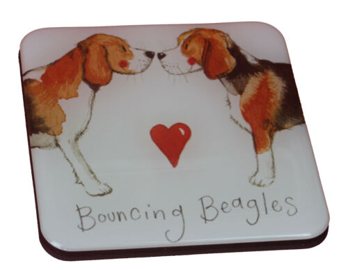Mini Square Quality Beagle Breed of Dog Fridge Magnet Perfect Gift