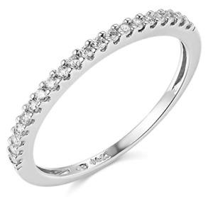 0.45 Ct Round Cut Diamond Engagement Band Ring 14k White Gold