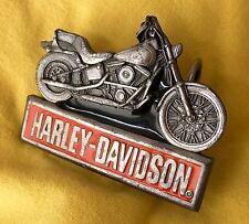 VINTAGE 1993 HARLEY DAVIDSON MOTORCYCLES BELT BUCKLE-Siskiyou, Harmony