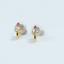 Indexbild 2 - 14 K Hallmark Gold Diamant-Ohrstecker im Rubin-Rosenschliff Weihnachtsgeschenk