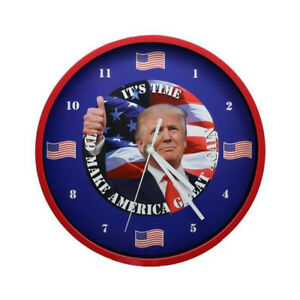 President-Trump-Talking-Clock-Battery-Operated-Red-Color-Frame