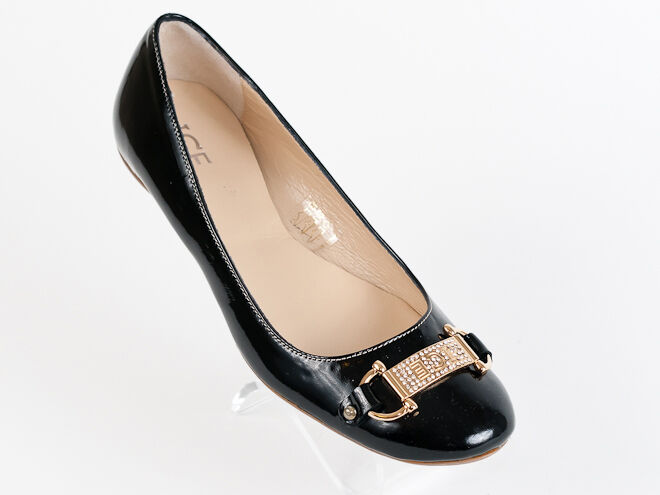 New  Iceberg Black Patent Leather Made in  shoes Size 36 US 6