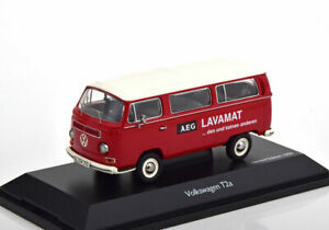 1-43-Schuco-VW-T2a-AEG-Lavamat-red-white