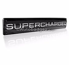 1- NEW Range Rover Land Rover Sport SUPERCHARGED trunk badge emblem BLACK CHROME