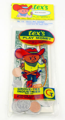 Waco Texas NOS Vintage Tex/'s Big Dough Play Money from Grove-Tex
