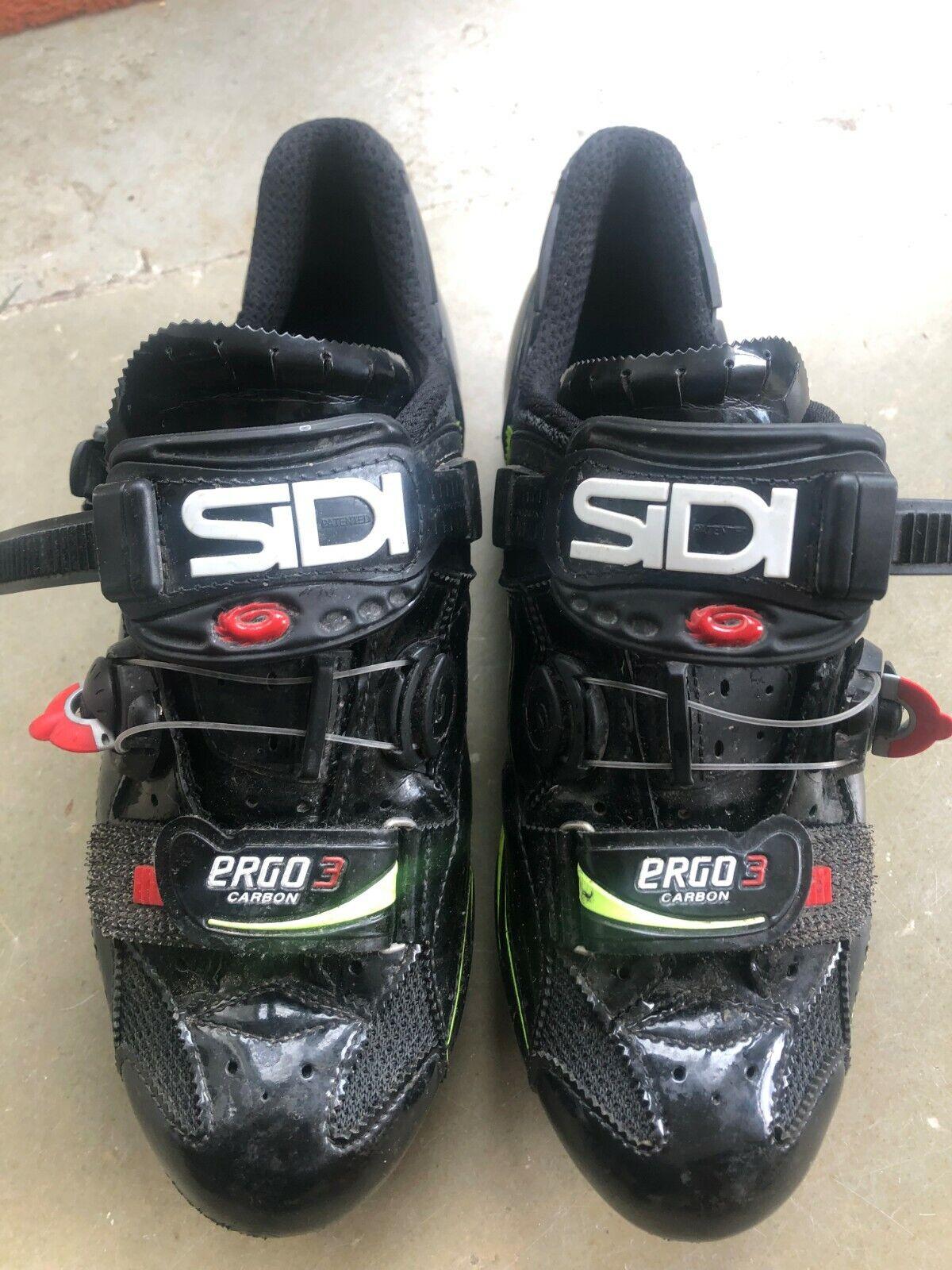 Sidi ergo 3 carbon biking scarpe, cycling, pro as good as new Dimensione 41