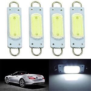 4-x-White-44mm-3W-COB-Rigid-Loop-LED-Interior-Door-Map-Light-Bulbs-561-562