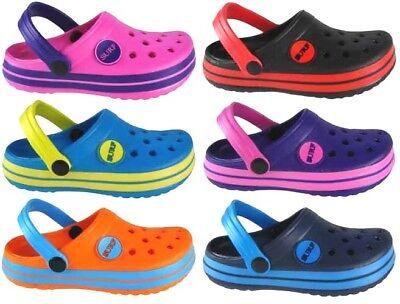 Enfants Flops Pantoufles Sabots Flip Crogs Tongs Jardin Chaussures Sandales