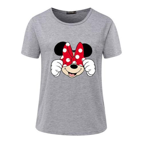 Damen Kurzarm Bluse T-Shirt Cartoon Freizeit Basic Tee Shirt Hemd Oberteile Top