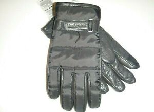 Timberland mens 3M designer goat suede touch finger leather gloves sz:Lg -black