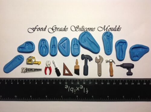 10 DIY TOOLS Themed Food Grade Silicone Moulds