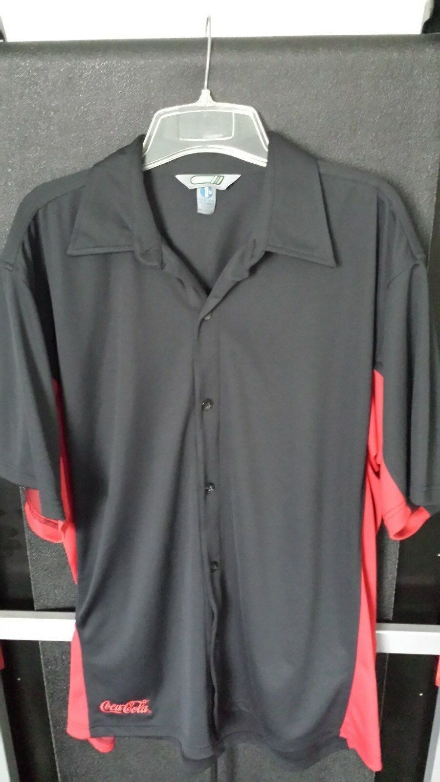 Coca Cola Button Down Eco Shirt XL (50% recycled polyester) New
