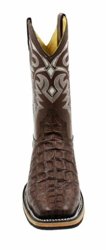 Men/'s Genuine Leather Crocodile Print Western Rodeo Cowboy Boots PR