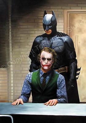 Batman The Dark Knight Batman Vs The Joker Original Hand Painted Oil Painting Ebay