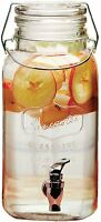 Circleware Mini Mason Jar 1 Gallon Glass Beverage Drink Dispenser With Metal on sale
