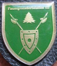Brustanhänger Verbandsabzeichen  PzGrenBtl 111 Roding