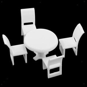 Miniature-Cucina-Rotonda-Tavolo-Da-pranzo-Sedia-Modello-1-75-Dollhouse-Layout