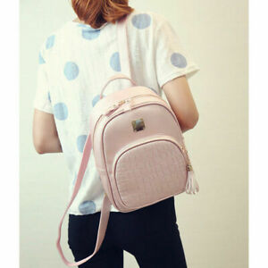 PU Leather Bag Shoulder School Bags Travel Backpack Rucksack for Women Girls UK