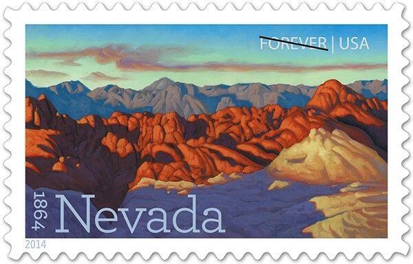 2014 49c Nevada Statehood, Silver State Scott 4907 Mint