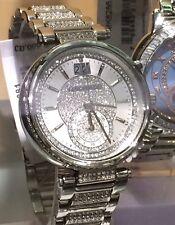 NWT MICHAEL KORS Sawyer Silver Swarovski Pave Crystal Glitz Watch MK6281 $450