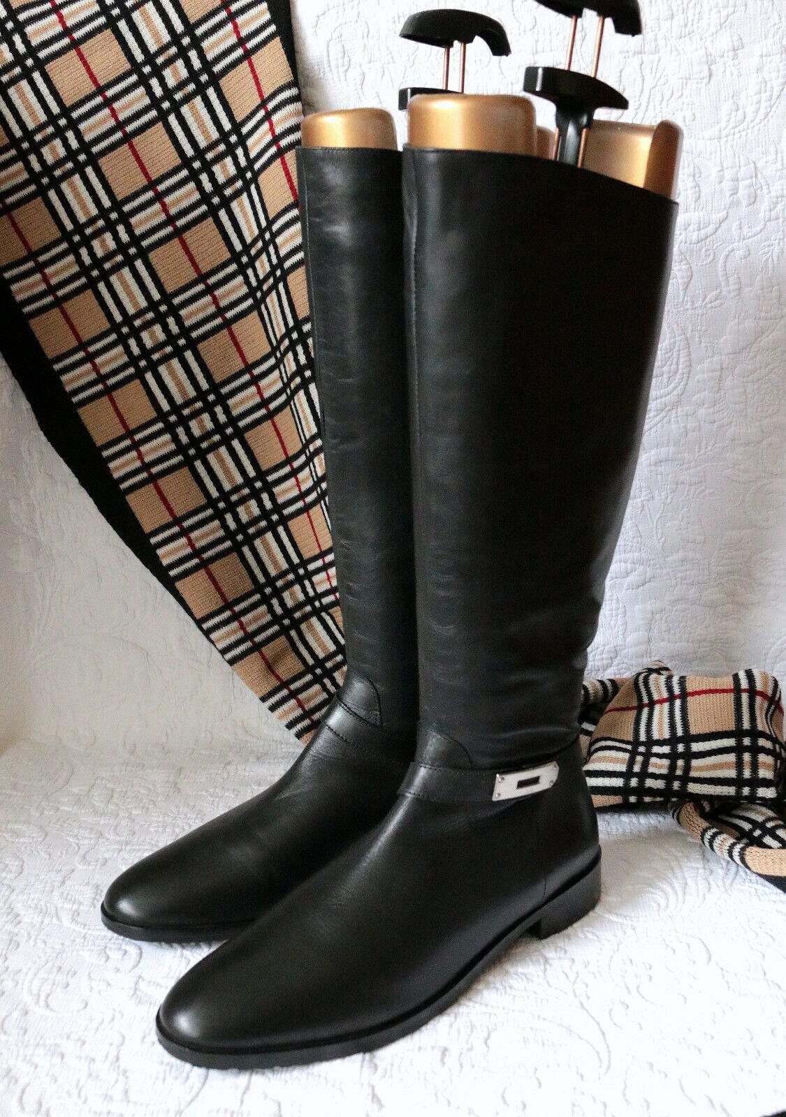 Mattea  elegantes Lang caña jinete-botas 41 cuero super Estado