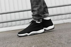 factory outlet good service in stock Details about NIKE AIR JORDAN FUTURE OREO WOVEN BLACK WHITE GOLD MEN'S  SHOES 100% AUTHENTIC