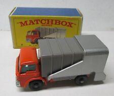 Vintage 1960's Matchbox Lesney Refuse Truck #7 In Box - NM/Mint