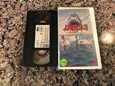 Jaws 3 VHS! 1983 Sea World Park Lagoon Horror! Piranha Predator Deep Blue Sea