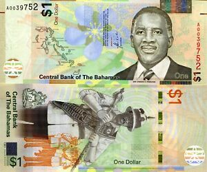 Details about BAHAMAS 1 Dollar Banknote World Paper Money UNC Currency Pick  p77a 2017