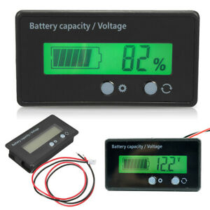 12~48V Lead Acid Lithium Battery Capacity Indicator Voltage Tester Voltmeter New