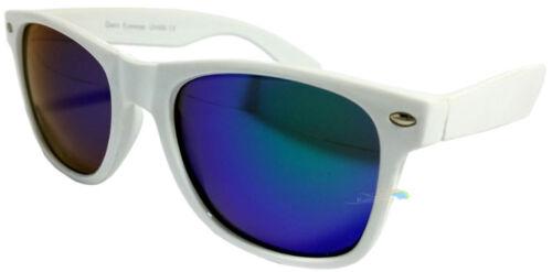 monture blanche Lunettes de soleil Multipack vert verre bleu