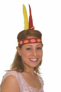 Indian Native American Feather Headband Headdress Headpiece Accessory Costume
