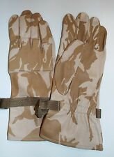 DESERT CAMO LEATHER WARM WEATHER COMBAT GLOVES - Size: 8, British Army , New