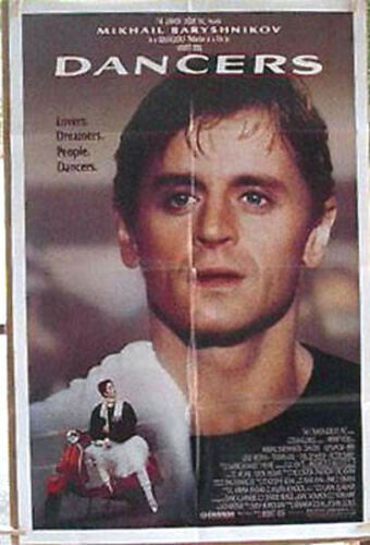 1987 Dancers 1Sheet Movie Poster Baryshnikov Folded MHPO058