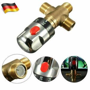 """Thermostatisch Mischventil Heiß Kaltwasser Thermostat Kontrolle 1//2/"""" oder 3//4 /"""""""
