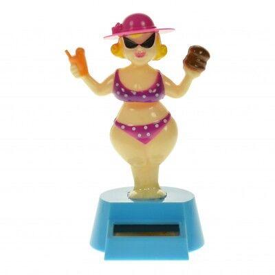 Solarfigur Bikini Mädchen Solar Figur Wackelfigur Deko Dekoration Frau